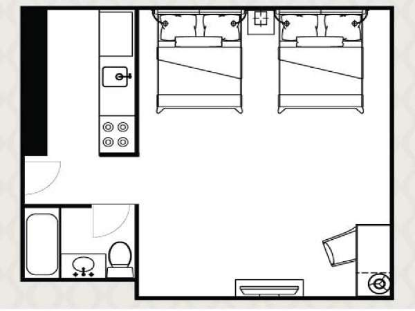 New York Studio accommodation - apartment layout  (NY-14521)