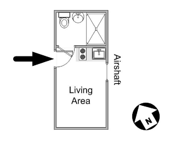New York Studio apartment - apartment layout  (NY-14775)