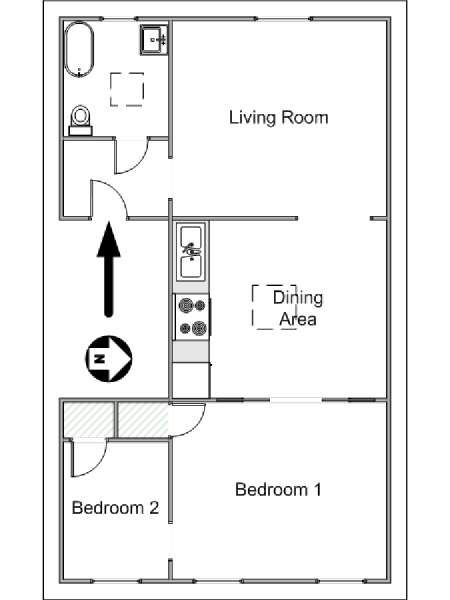 New York T3 logement location appartement - plan schématique  (NY-14848)