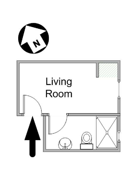 New York Studio apartment - apartment layout  (NY-14873)