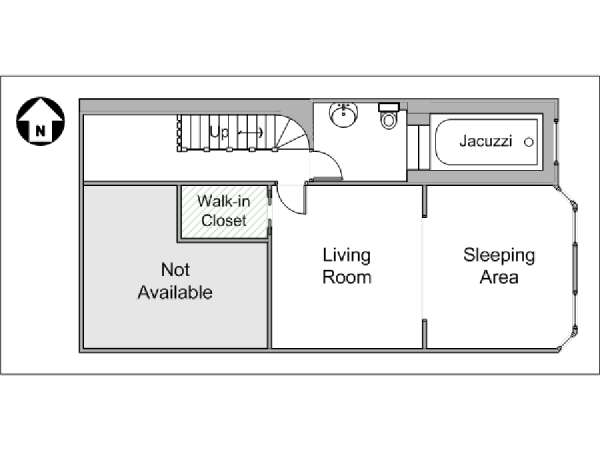 New York Alcove Studio apartment - apartment layout  (NY-14904)