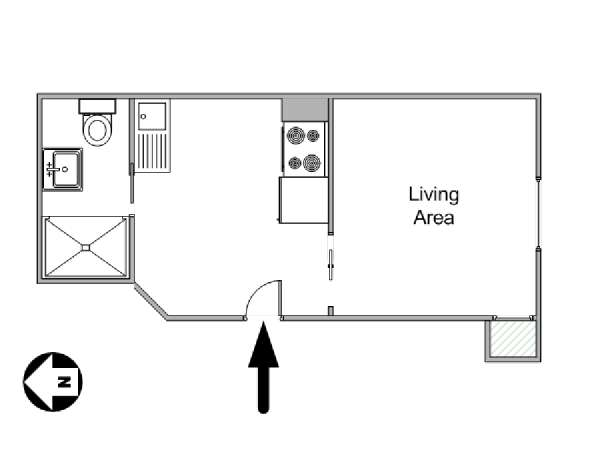 New York Studio apartment - apartment layout  (NY-15132)