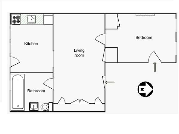 New York T2 appartement location vacances - plan schématique  (NY-15137)