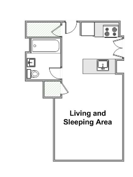 New York Studio apartment - apartment layout  (NY-15351)
