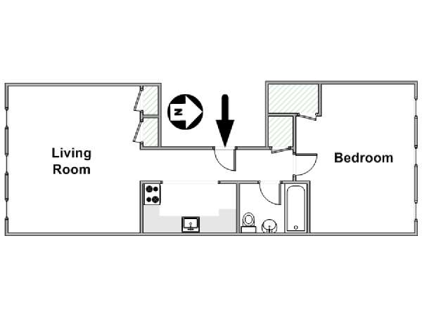 New York T2 logement location appartement - plan schématique  (NY-15415)
