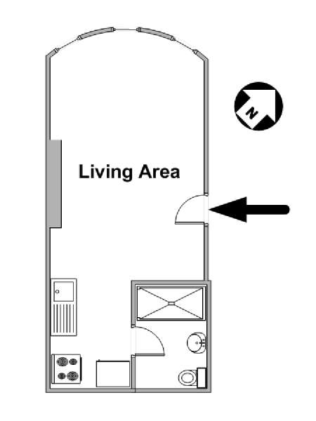 New York Studio apartment - apartment layout  (NY-15569)