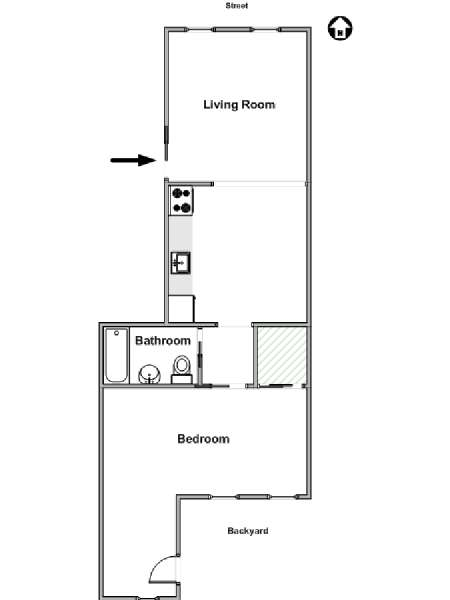 New York T2 appartement location vacances - plan schématique  (NY-15677)