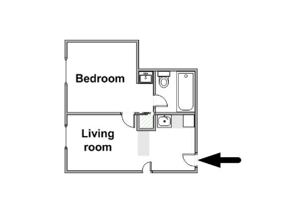 New York T2 appartement location vacances - plan schématique  (NY-15683)