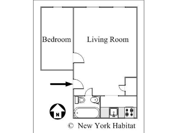 Stuy Town 2 Bedroom Floor Plan: New York Apartment: 1 Bedroom Apartment Rental In Bedford