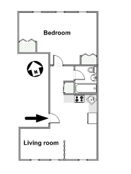 New York T2 logement location appartement - plan schématique  (NY-15721)