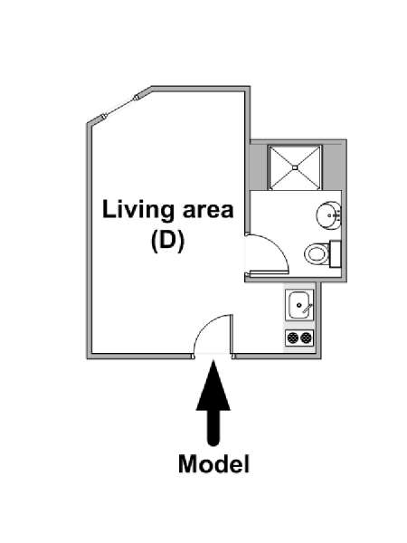 New York Studio apartment - apartment layout  (NY-15777)