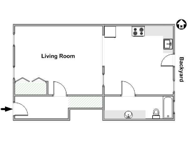 New York Studio apartment - apartment layout  (NY-16024)