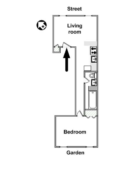 New York 1 Bedroom apartment - apartment layout  (NY-16035)