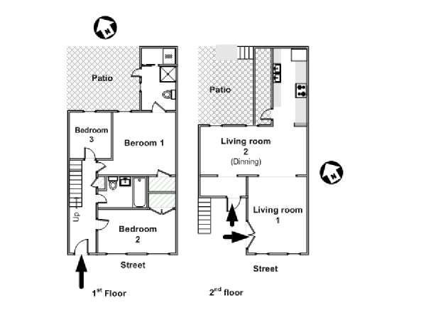 Image Slider New York 3 Bedroom Duplex Apartment Layout Ny 16110
