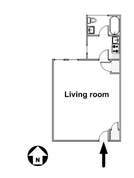 New York Studio apartment - apartment layout  (NY-16129)