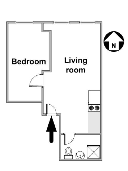 New York T2 logement location appartement - plan schématique  (NY-16184)