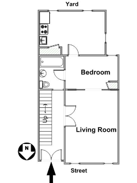 New York T2 appartement location vacances - plan schématique  (NY-16259)