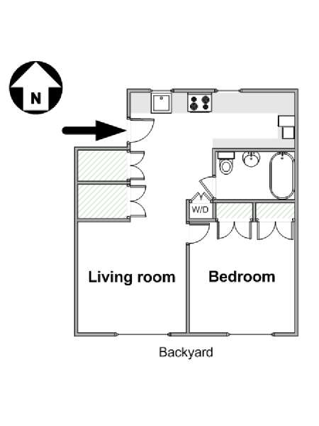 New York 1 Bedroom apartment - apartment layout  (NY-16264)