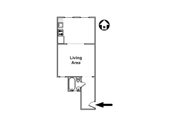 New York Studio T1 logement location appartement - plan schématique  (NY-16292)