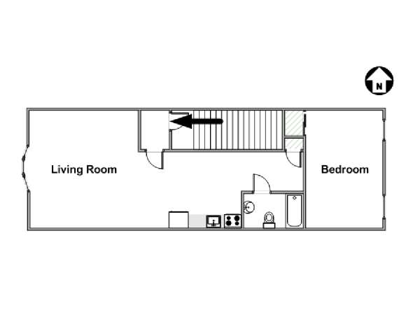 New York 1 Bedroom apartment - apartment layout  (NY-16372)