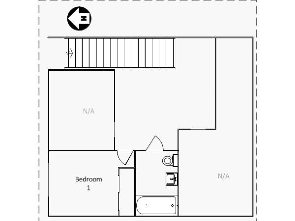 New York T4 - Duplex appartement colocation - plan schématique 1 (NY-16461)