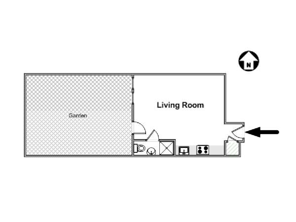 New York Studio apartment - apartment layout  (NY-16505)