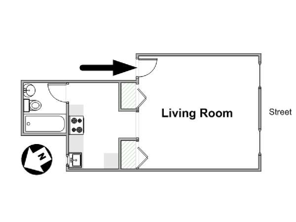 New York Studio apartment - apartment layout  (NY-16510)