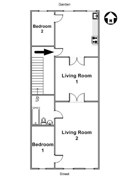 New York T3 logement location appartement - plan schématique  (NY-16564)