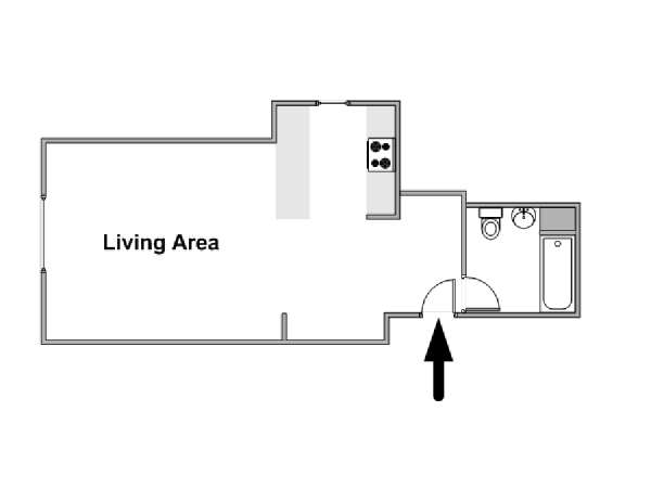 New York Studio accommodation - apartment layout  (NY-16573)