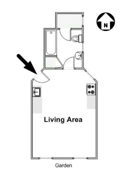 New York Studio apartment - apartment layout  (NY-16586)
