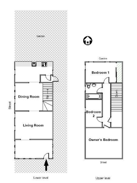 New York 5 Bedroom roommate share apartment - apartment layout  (NY-16607)