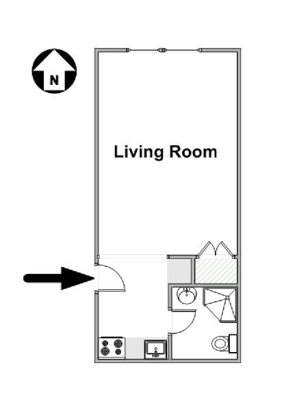 New York Studio apartment - apartment layout  (NY-16612)