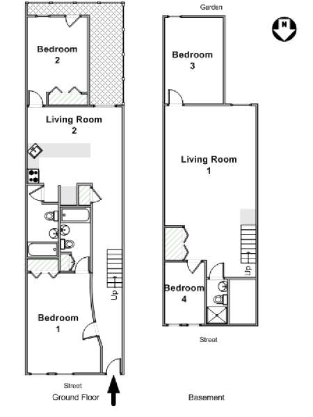 New York T5 - Duplex appartement location vacances - plan schématique  (NY-16635)