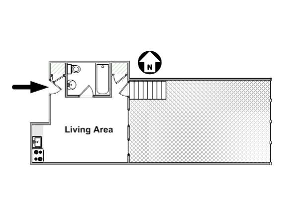 New York Studio apartment - apartment layout  (NY-16644)