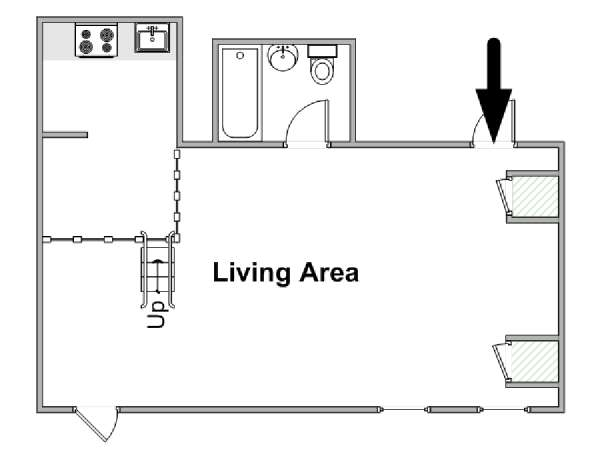 New York Studio apartment - apartment layout  (NY-16816)