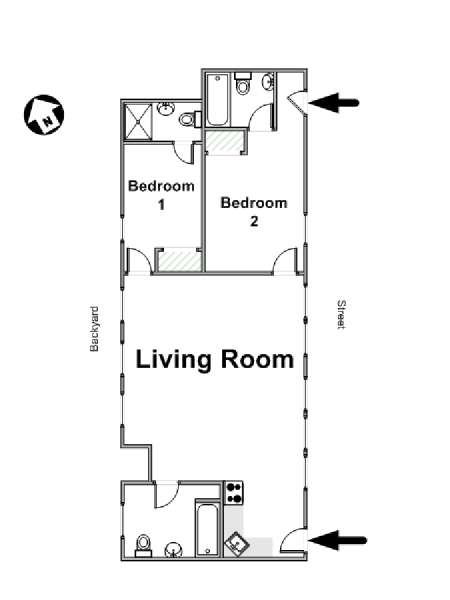 New York 2 Bedroom apartment - apartment layout  (NY-16825)