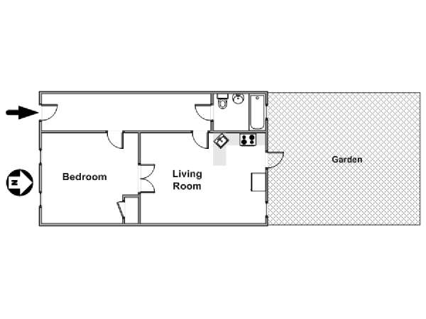 New York 1 Bedroom apartment - apartment layout  (NY-17047)