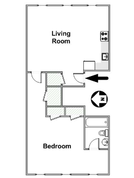 New York T2 logement location appartement - plan schématique  (NY-17056)