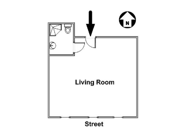 New York Studio apartment - apartment layout  (NY-17113)