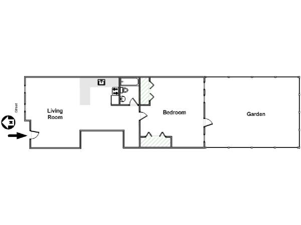 New York 1 Bedroom accommodation - apartment layout  (NY-17129)