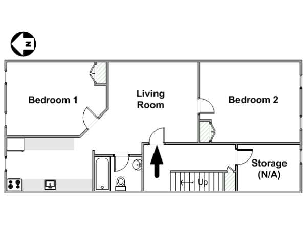 New York T3 appartement location vacances - plan schématique  (NY-17150)