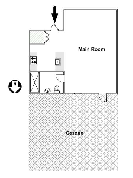 New York Studio accommodation - apartment layout  (NY-17214)