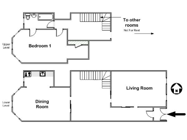 New York 7 Bedroom roommate share apartment - apartment layout  (NY-17316)