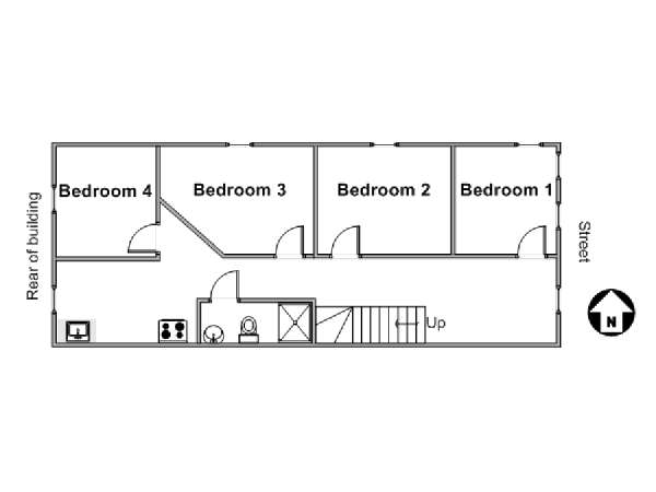 New York 4 Bedroom apartment - apartment layout  (NY-17320)