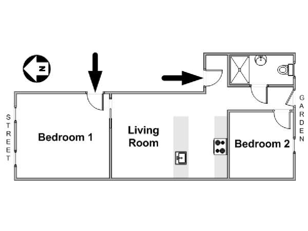 New York 2 Bedroom apartment - apartment layout  (NY-17326)