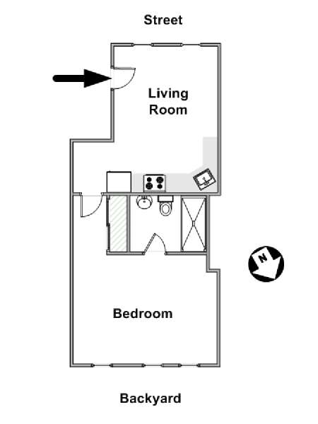New York T2 appartement location vacances - plan schématique  (NY-17397)