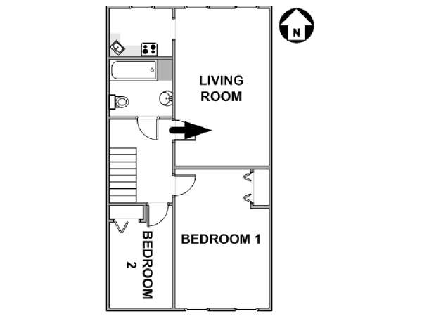 New York 2 Bedroom apartment - apartment layout  (NY-17567)