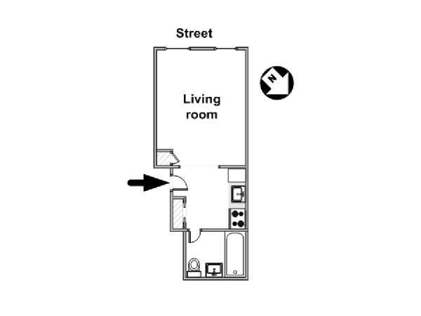 New York Studio apartment - apartment layout  (NY-17579)