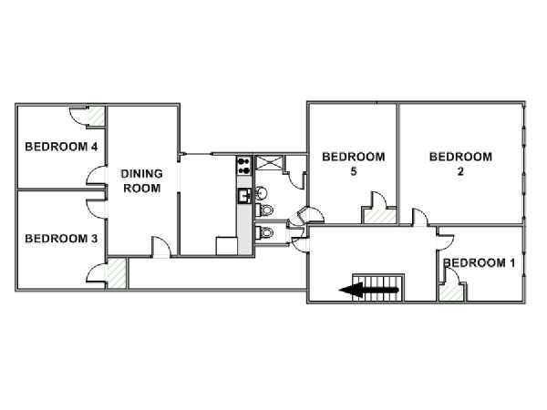 New York T6 appartement colocation - plan schématique  (NY-17610)