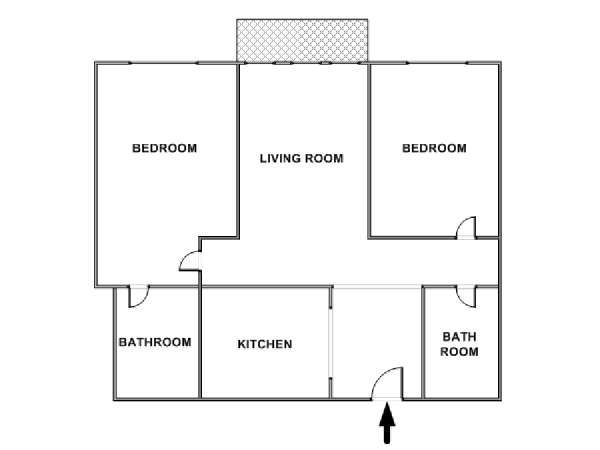 New York 2 Bedroom apartment - apartment layout  (NY-17627)